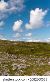 The view is looking southwest from the path leading to Dun Aonghasa in springtime.  Inishmore, Aran Islands, County Galway, Ireland