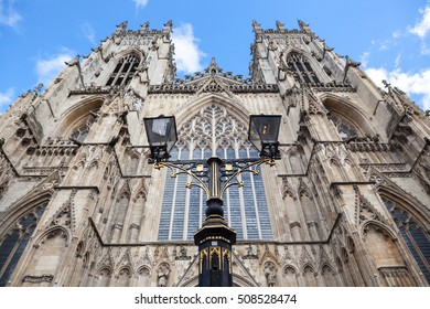 A view looking up at York Minster, York, England.