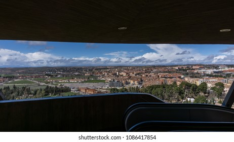 View from a lookout of a piece of the city of Toledo, Spain and its horizon.