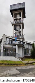 A view of the lookout tower in the town of Presov in Slovakia