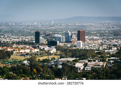 View of Los Angeles from Brentwood, California.