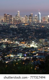 View of Los Angeles California from Dante's View before sunrise