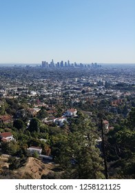 View of the Los Angeles skyline from Griffith Park