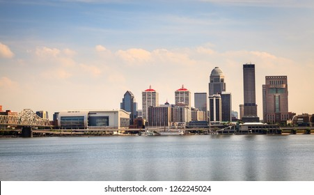 View of Louisville, Kentucky skyline from the Ohio River