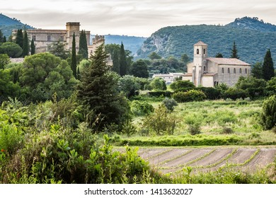View of Lourmarin in Luberon - Provence - Vaucluse - France