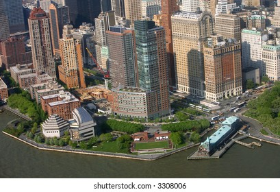 View of lower Manhattan  - battery park