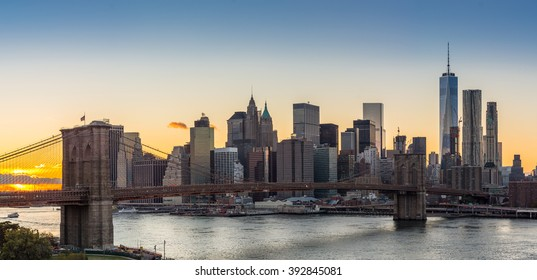 View of Lower Manhattan and the Brooklyn Bridge, From the Manhattan Bridge, Brooklyn side.