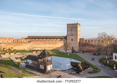 View of Lubart Castle or Lutsk High Castle