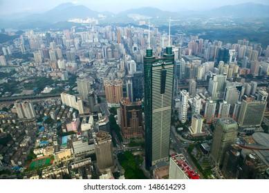 view of Luohu district Shenzhen city China