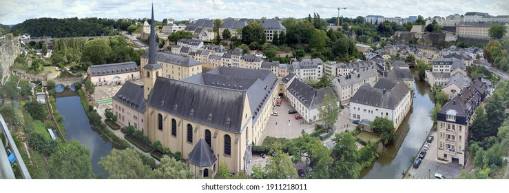 View of Luxembourg city landmark