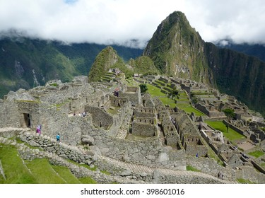 View of Machu Picchu also called The Lost City of the Incas in the Peruvian Andes. Considered a masterpiece of human work and due its geographical location, it is a UNESCO World Heritage Site.