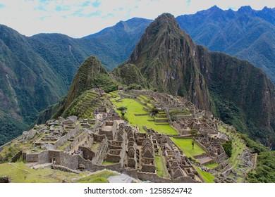 View of Machu Picchu Peru the Inca city near Cusco