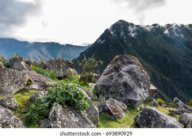 View from the Machu Picchu rock quary to the west mountains