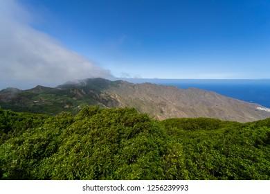 View of the Macizo de Anaga mountain range. Tenerife. Canary Islands. Spain.