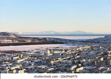 View of Magadan, Russia
