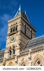 A view of the magnificent architecture of Northampton Guildhall in the town of Northampton, UK.