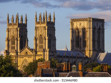 A view of the magnificent York Minster in York, England.