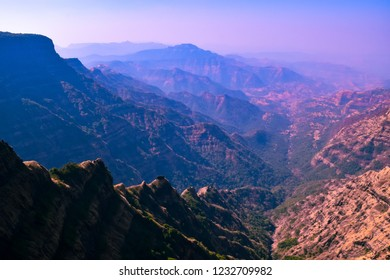 """View at Mahabaleshwar a hill station near Mumbai, Maharashtra on Sahyadri range of western ghat a """"hottest hot-spots"""" of biological diversity in the world & UNESCO World Heritage Site."""