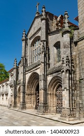 View of the main facade of the Cathedral of Lamego, Portugal.