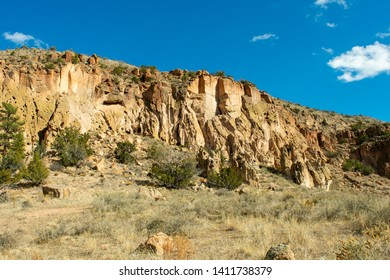 View from the main loop trail in Bandelier National Monument in New Mexico