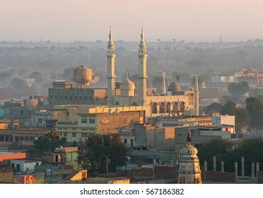 View of main mosque in city of Mandawa, India