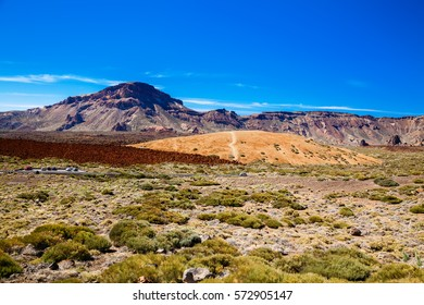 view of the main plateau in the Teide national park, Tenerife, Spain