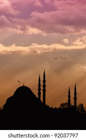 A view of the majestic Suleiman Mosque in Istanbul, Turkey.