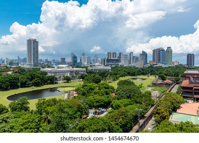 View of Makati, the business district of Metro Manila, Philippines