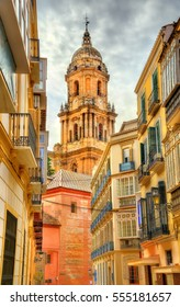 View of Malaga Cathedral in Andalusia, Spain