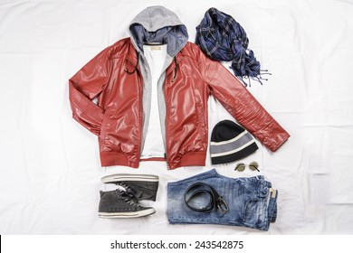 View of a male casual outfit.