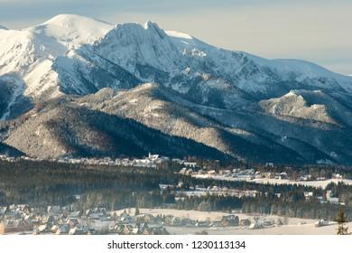 view to Male Ciche, Murzasichle, Zakopane - Cyrhla, Giewont Mountain, Tatra Mountains, Tatra National Park, Poland