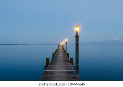 View from Malerwinkel at lake Chiemsee, Bavaria, Germany