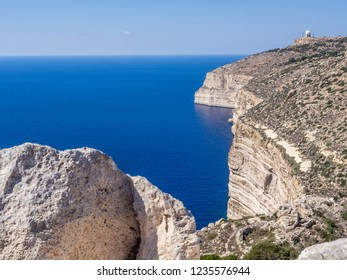 The view of Maltas Dingli Cliffs natural park. Malta