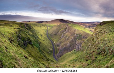 A view of Mam Tor from the top of Winnats Pass.