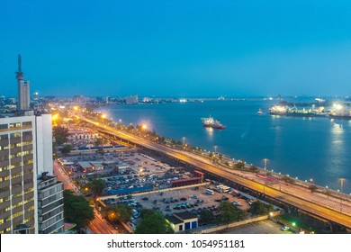 View from Maman Kotangora House, 23A Marina, Lagos, NIGERIA
