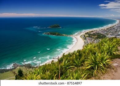 View from Manganui Mountain, Tauranga, New Zealand