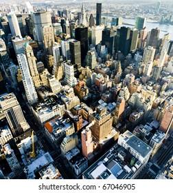 vista de Manhattan desde The Empire State Building, Nueva York City, EE.UU.