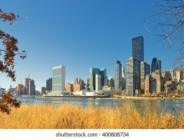 View of Manhattan from the Roosevelt Island.