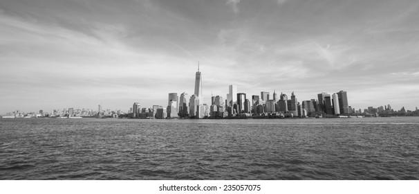 View of Manhattan skyline in NYC.