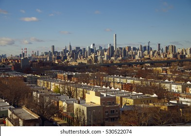 View of Manhattan skyline overlooking Astoria Queens