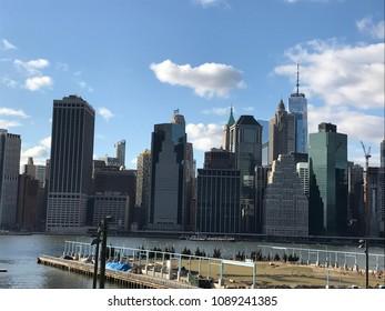 View of Manhattan from Staten Island in New York