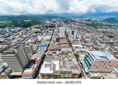 View of Manizales in the department of Caldas in Colombia