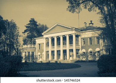"""View of Manor house """"Lenin's Gorky""""(Moscow Oblast, Russia) where Vladimir Lenin spent the last months of his life, nowadays it is a Historical mansion-museum of V.I.Lenin"""