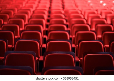 View of many empty seats in theater