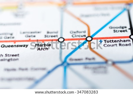 Marble Arch London Map.View Marble Arch Station On London Stock Photo Edit Now 347083283