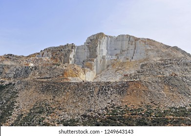 View of the marble quarry on Naxos island, Greece