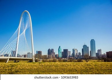 A view of Margaret Hunt Hill Bridge, Dallas Texas, United States of America