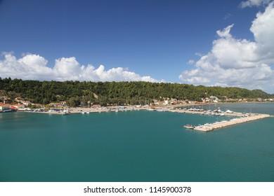 the view of the Marina of Katakolon Olympia