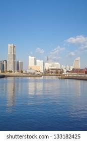 View of the Marina in Yokohama Bay side