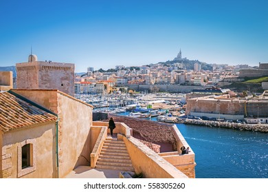 View of Marseille from Fort Saint-Jean Le Mucem, Provence, France